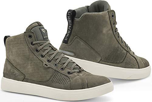 REVIT Arrow - Zapatillas de piel para hombre, color verde oliva y...