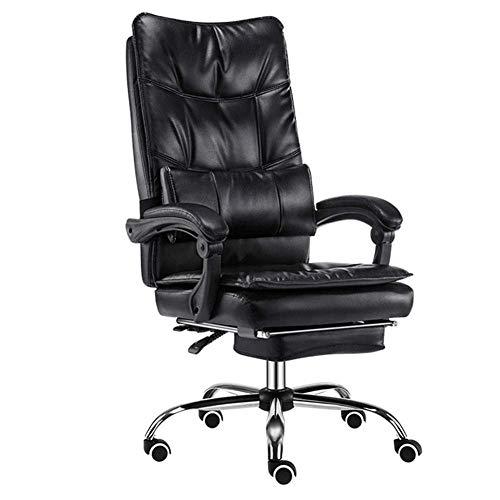 OSALADI vrijetijdsstoel echt leer huishouden leder kunst bureaustoel zitleuning comfortabele lounge stoel dubbele verdikte 155 ° liggend