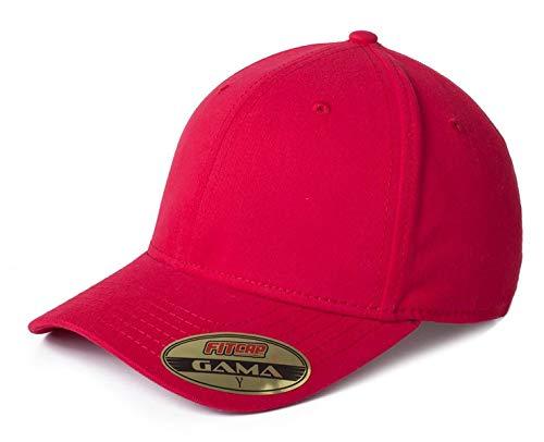 Fitcap Gama- gorrra Cerrada unitalla, con Casco Alto Tacto Suave (Rojo)