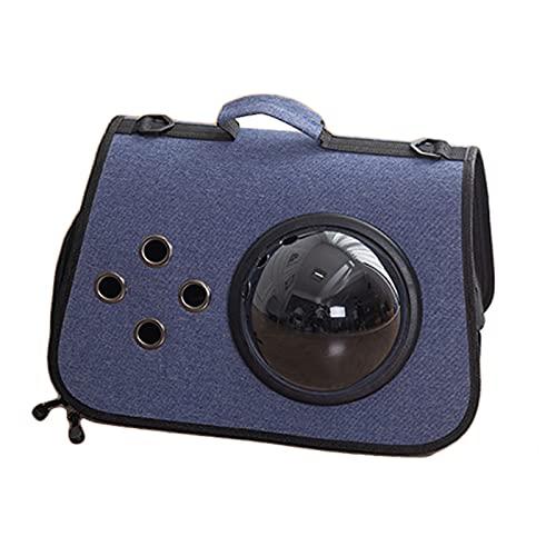 PPBB Portador de Burbujas portátil Color Cian Tibetano, Impermeable, Transparente, Transpirable, cápsula Espacial para Perros, Gatos, Cachorros, Animales, Viajes, Caminatas al Aire Libre