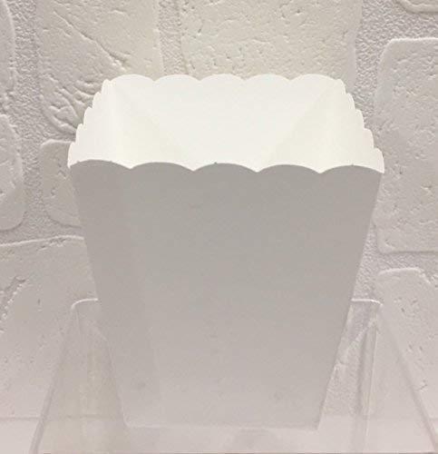Scotton 20 PZ Vaso in Carta Bianco portaconfetti confettata Smerlato