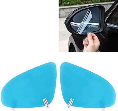SKYLULU PETRückspiegelschutzfenster transparentes Glas, Antibeschlag und wasserdichte Folie, AutoRückspiegelschutzfolie