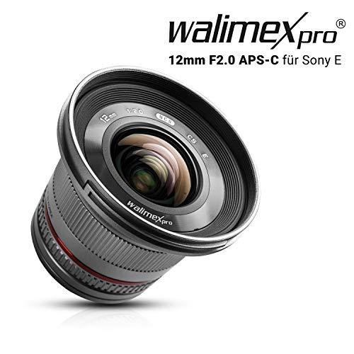 Walimex pro Black - Objetivo para Sony/Minolta (Apertura f 2-22), Negro