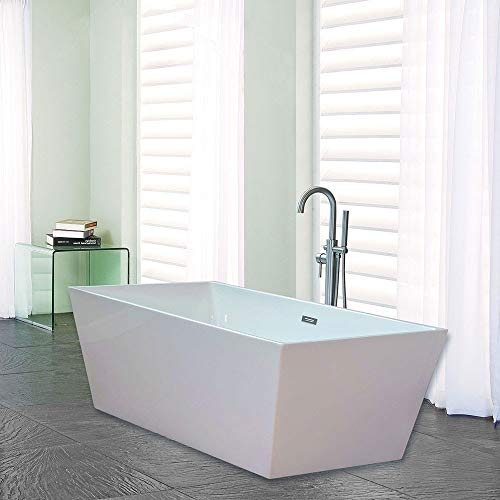 Product Image of the Woodbridge BTA-1512-B-0003 Acrylic Freestanding Bathtub, 67' B-0003 B/N