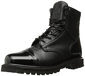 Rocky mens Side Zipper Jump industrial and construction boots Black 10.5 Wide US