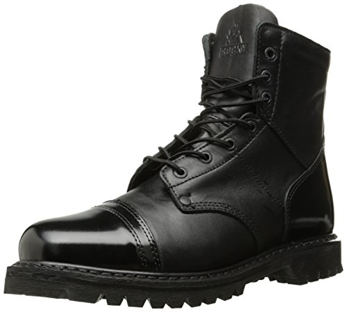 Rocky mens Side Zipper Jump industrial and construction boots, Black, 10 Wide US