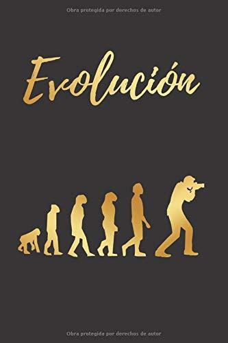 EVOLUCIÓN: CUADERNO LINEADO | Diario, Cuaderno de Notas, Apuntes o Agenda | Regalo Creativo y Original para los Amantes de la fotografía.