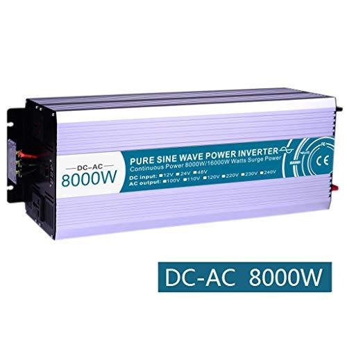 Wechselrichter 6000 Watt 8000 Watt Solar Reine Sinuswelle Dc12V / 24V / 48V / 96V Zu Ac110V / 220V Autokonverter Mit 2Ac Steckdosen Und USB Port 8000 Watt 48V Zu 110V