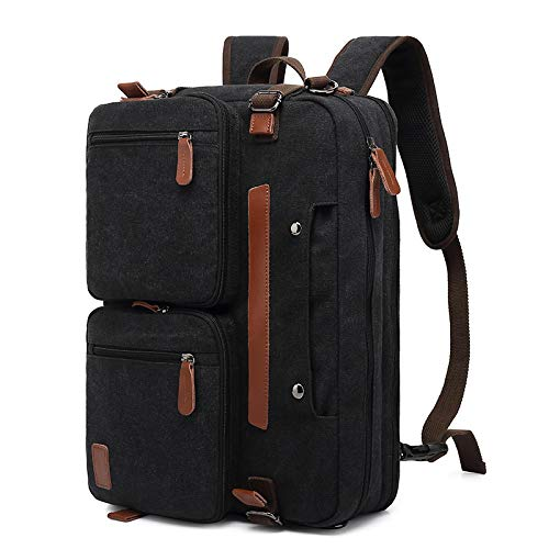 Laptop Bag Backpack 14/15.6/17 Inch Laptop Backpack Men Business Waterproof Computer Bag Casual Large Nylony Gray Anti-Theft Travel Backpack 17.3Inches Canvasblack Free Fast Delivery