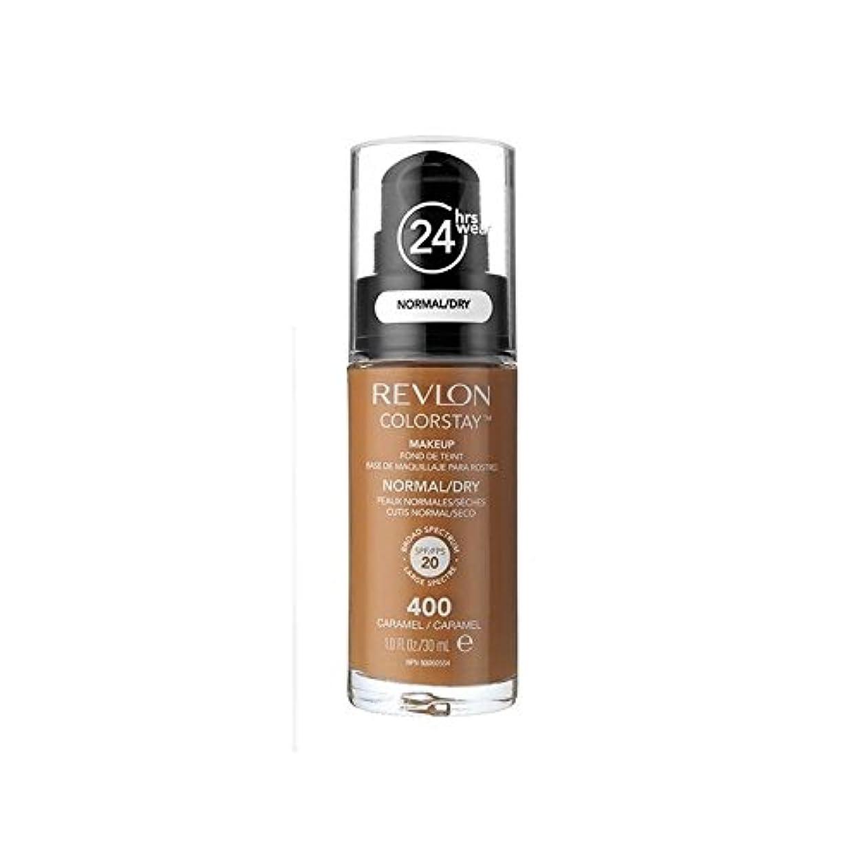 郵便物ふさわしいサンドイッチレブロンの基礎通常の乾燥肌キャラメル x4 - Revlon Colorstay Foundation Normal Dry Skin Caramel (Pack of 4) [並行輸入品]