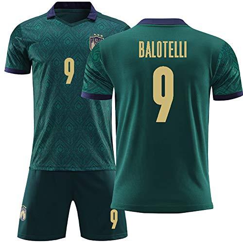 POAK Chiellini 3 Marchisio 8 Fußballuniform für Männer und Jungen, 2020 Italien Nationalmannschaft Auswärts Fußball Trikot Trikots, Fußball Uniformen gesetzt-BALOTELLI9-20