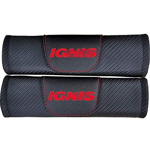 2 Piezas Hombreras Cubierta Cinturón Seguridad Automóvil Para Suzuki Ignis, Fibra Carbón Almohadilla Hombro Correa Cinturón Seguridad Cojines Hombro Mangas Protectoras Confort Suave