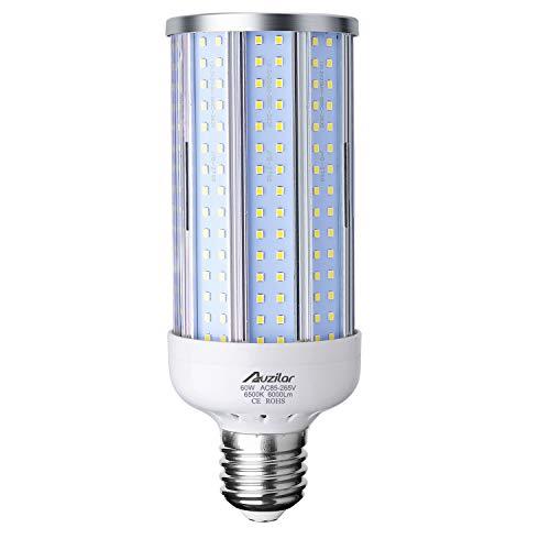 60W LED Corn Light Bulb (E39 Large Mogul Base) 6000Lm 6500K Cool White, for Metal Halide HID HPS Replacement Garage Parking Lot High Bay Warehouse Street Lamp Lighting, 85V-265V