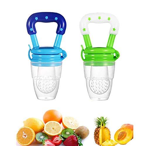 Losuya 2er Pack Babynahrung Feeder Obst Feeder Baby Schnuller Feeder Baby Supplies, zufällige Farbe