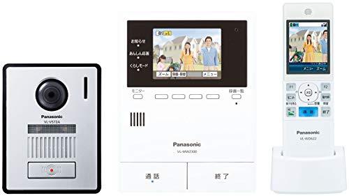 パナソニック ワイヤレスモニター付き テレビドアホン LEDライト搭載 あんしん応答対応 どこでもドアホン VL-SWZ300KF