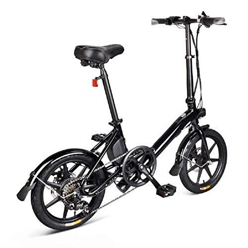 CXY-JOEL Bicicleta Eléctrica Plegable de 14 Pulgadas, Bicicleta Eléctrica Plegable, Bicicleta Plegable Eléctrica Bicicleta Plegable Segura Portátil Ajustable para Ciclismo, 250 W, Velocidad Máxima de