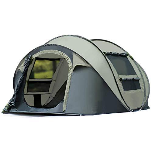Viñedo Carpas para Acampar 4-6 Personas Pop Up instantáneo Fácil Configuración rápida, Ventana de Malla de 2 Puertas Impermeable Gran Familia Privacidad Carpa Viajes