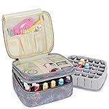 Luxja organizador de esmaltes de uñas, esmaltes de uñas estuche, porta esmaltes de uñas- Sostiene...