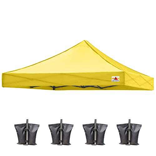 ABCCANOPY Replacement Canopy Top for Commercial Canopy Tent (10x10, Yellow)