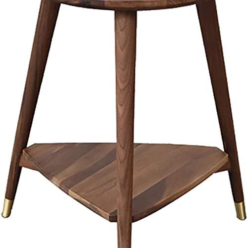 Mesa auxiliar del sofá, Mesas de café de madera Retro Retro Redondo Lado End Tabla de Acento Sala de estar Pequeña Mesa Redonda Terraza Pequeña Mesa de Café, 18.9 pulgadas, Tablas del extremo de la nu