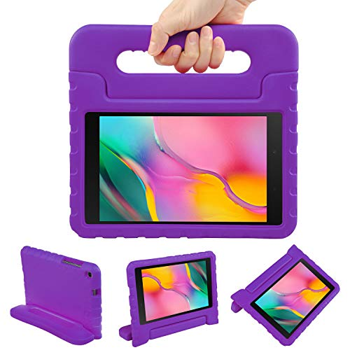 NEWSTYLE Kids Case for Samsung Galaxy Tab A 8.0 2019 SM-T290/T295, Shockproof Light Weight Protection Handle Stand Kids Case for Samsung Galaxy Tab A 8.0 Inch 2019 Tablet (Purple)