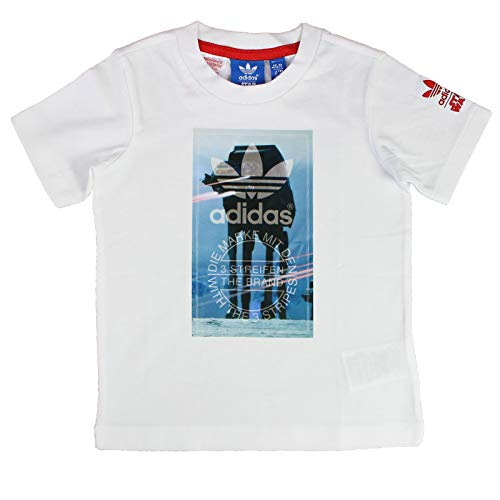 adidas Originals Star Wars ATAT Walker Kinder Shirt Limited Edition at-at AB1839, Größe:104, Farbe:Weiß
