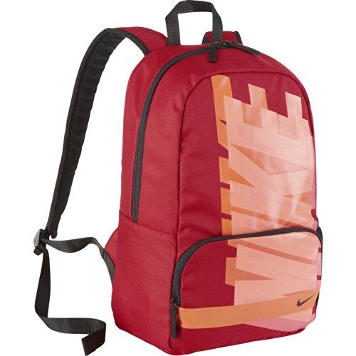Nike Classic Turf - Mochila para Hombre, Color Rojo/Naranja/Negro