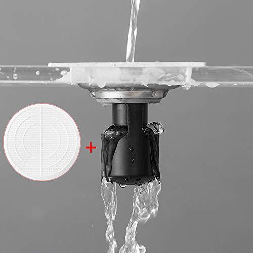 Wffo Desodorante de Sellado de Agua Profunda. Desodorante para baño de Cocina y Desodorante a Prueba de Insectos, núcleo de Drenaje Plug & Play para desagüe de Piso. Carcasa de ABS Gruesa.