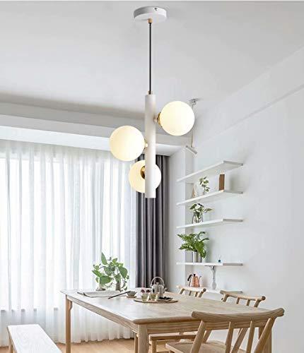 Lámpara colgante de ramas,lámpara de bola de cristal de 3 luces LED G9,accesorios de iluminación de techo de luz cálida,luminaria de suspensión colgante de altura ajustable,lámpara molecular