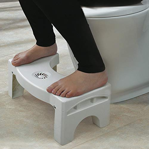 Potty Stool - Foldable Anti Constipation Bathroom Plastic Squatting Stool Toilet - Stool Stool Bathroom Toilet Squat Cover Redmi Toilet Squat Toilet Potty Stools Footstool Stool Step Cha