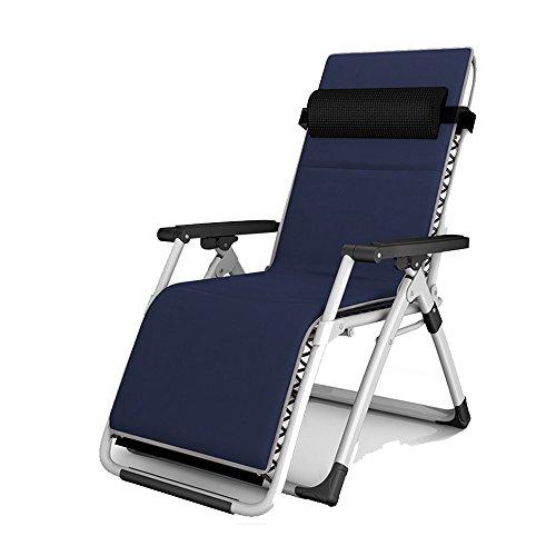 YANFEI Chaise longue pliante siesta siesta lit bureau chaise pliante chaise chaise chaise de plage (Color : Dark blue)