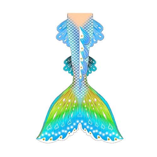 Conjunto con Cola De Sirena Cola De Sirena para Nadar Traje De Bano Sirena Niños/Adultos/Hombres/Mujeres/Piscinas/Fotos(Color:Multicolor 1)
