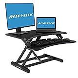 Alloyseed Standing Desk, 33' Height Adjustable Sit Stand Up Desk Converter Ergonomic Sit Stand Gas Spring Riser Height Levels Workstation Desk