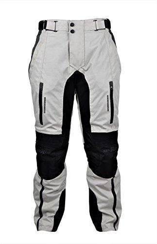 Zerimar KENROD Herren Motorradhose Cordura Motorradhose Moto Hose mit Protektoren Farbe Schwarz grau Größe XXL