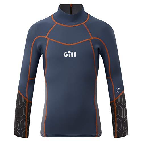 Gill Junior Zenlite 1.5mm Flatlock neopreen Wetsuit Top - Ocean Steel Grey - Thermal Warm hittelaag Lagen UV Zon