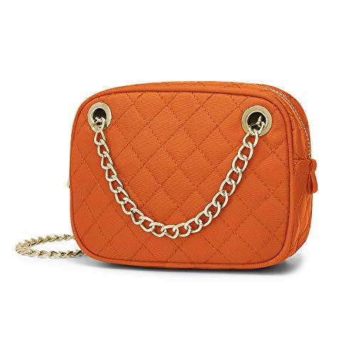 Wind Took Umhängetasche Damen Kleine Mode-Kette Tasche Crossbody Bag Handtasche Abendtasche Citytasche für Hochzeit Party Disko, 12.5x17x6 cm