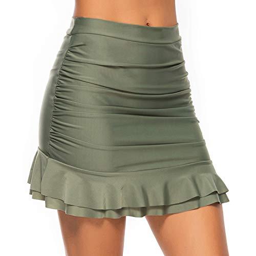 FITTOO Bañador Falda Corta Traje de Baño Mujer Traje de Bano Playa Alta Elasticidad Múltiples Colores,…