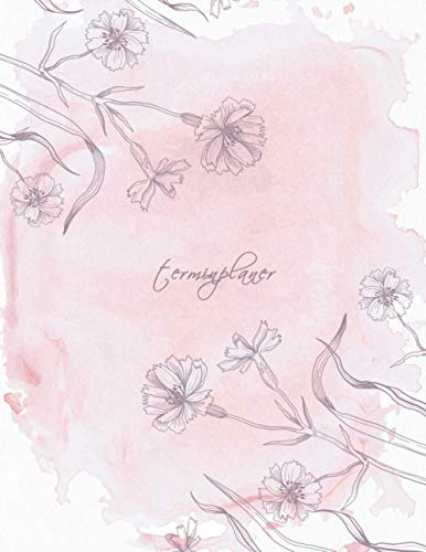 Terminplaner: Kosmetikstudio & Nagelstudio DATEN Kalender | 8AM - 8PM Friseur Salon Terminbuch | Mon - Son Beauty Tageskalender | Inkl. Kundenbuch | Pink Pastel Flowers