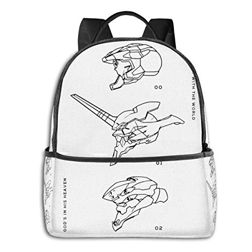 XCNGG Anime Eva Units Classic £¨1£ Student School Bag School Cycling Leisure Travel Camping Outdoor Backpack