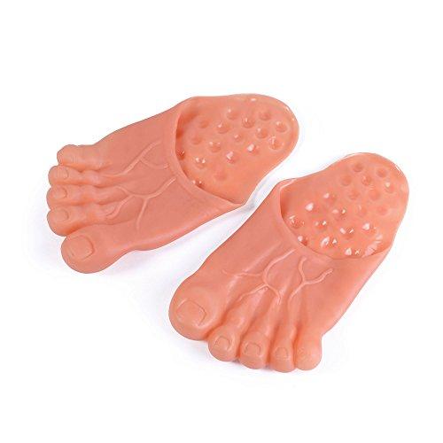 Bristol Novelty MD213 Jumbo Füße, Rosa, unisex - erwachsene, beige/pink, Einheitsgröße