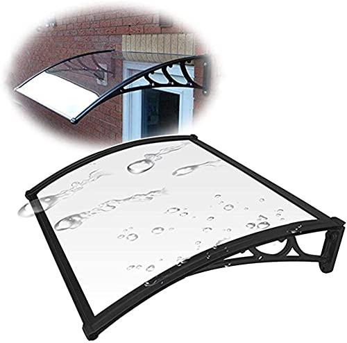 GXFWJD Toldos/Marquesina/Tejadillo Protección/Marquesina Puerta Transparente/Protéjase del Sol La Lluvia Soporte En PP Puerta Techo para Protección Solar (Color : Clear, Size : 150x100cm)