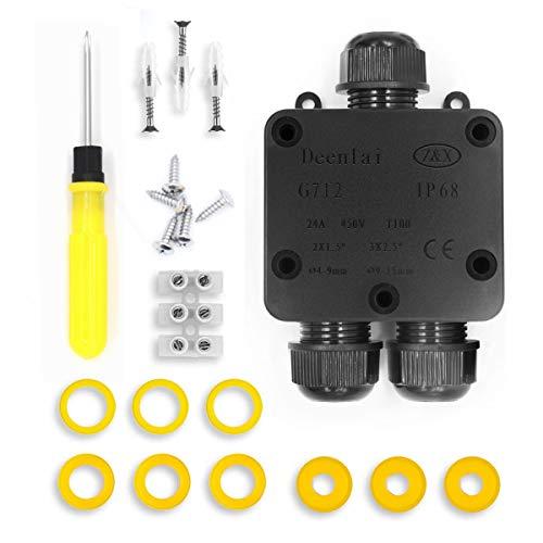 Scatole di derivazione,IP68 Scatole Impermeabili Esterno Scatole per Collegamenti per 4-14 mm Diametro Cavo,Scatola di Giunzione Esterno Connettore Cavi Elettrici Impermeabile (1 Pack)