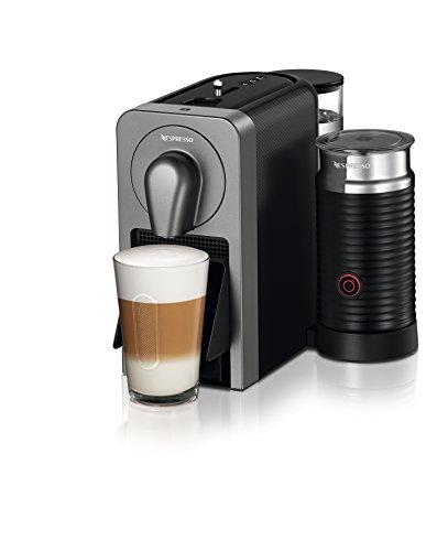 Nespresso Essenza Mini Cafeteira 220V Combo com Aeroccino, Máquina de café expresso compacta para casa, cápsula / cápsula elétrica automática (Preto / Cinza)