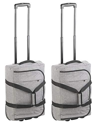Xcase Handgepäckkoffer: Faltbare 2in1-Handgepäck-Trolley & Reisetasche, 44 l, 2 kg, 2er-Set (Koffer-Trolley klein)