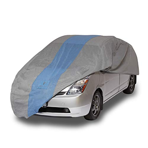 Duck Covers - A1HB183 Defender Hatchback Car Cover for Hatchbacks up to 15' 2' Gray/Light Blue 183 Inch Length x 59 Inch Width x 51 Inch Height