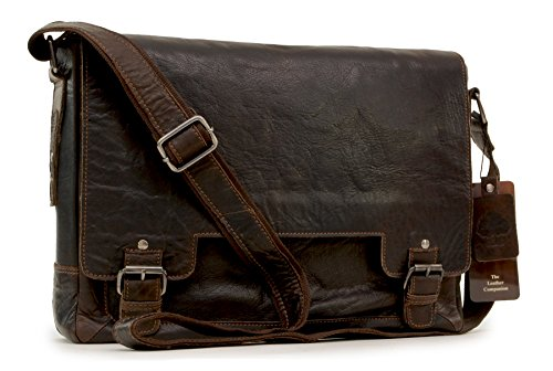 Borsa Messenger in Pelle Notebook Ashwood - 8343 - Marrone
