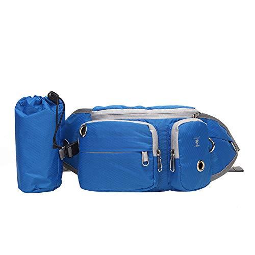 Hundeleckerli-Tasche für Haustier-Training, Hüfttasche, multifunktional, für Leckerlis, Snacks, Spielzeug, Bälle, Aufbewahrungstasche, Müllbeutel, Spender für Reisen oder im Freien, blau, Free Size