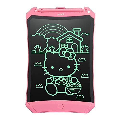 NEWYES Tableta de Escritura LCD 8,5 Pulgadas | Tablet para Dibujar para Niños. Colores Más Brillantes. Pizarra electrónica para Aprender a Leer, Escribir y Manualidades | (Rosa)