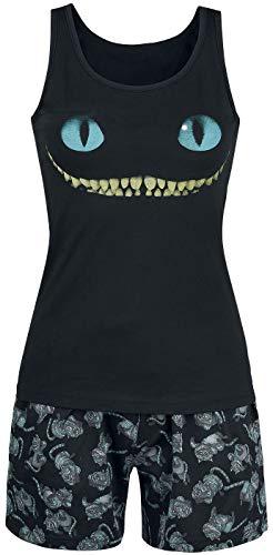 Alice im Wunderland Grinsekatze - Lächeln Frauen Schlafanzug schwarz XXL