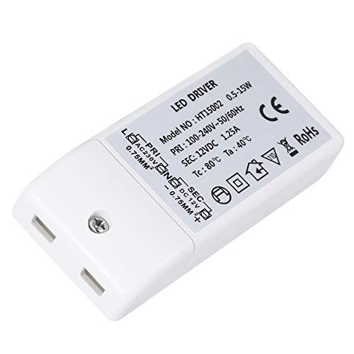 REFURBISHHOUSE Transformador electronico de AC 220V Entrada 12V 20W Salida LED